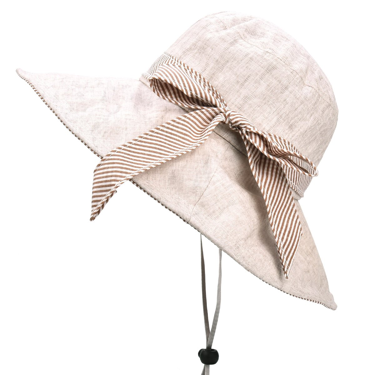 SOMALER Sun Hats for Women Roll-up Wide Brim Summer Beach Hat Foldable Floppy Cotton Hat