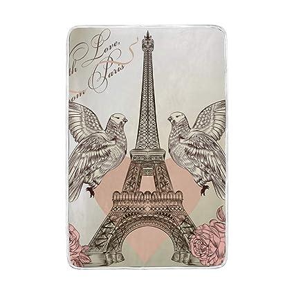 b65c2815fd62 Amazon.com: Lilibeely Ultra Soft Microplush Velvet Pigeon Eiffel ...