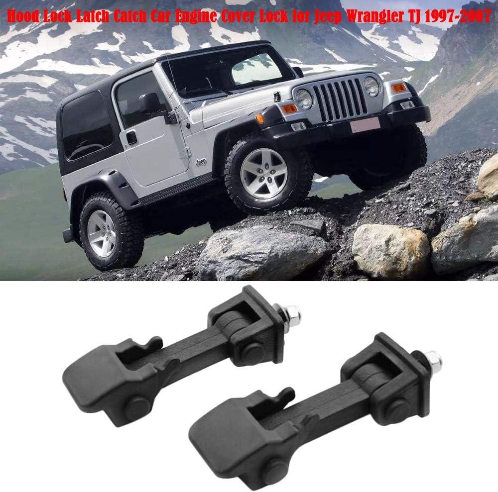 zroven Hood Lock Latch Catch Car Engine Cover Lock for Jeep Wrangler JK 2008-2017 car Hood Lock