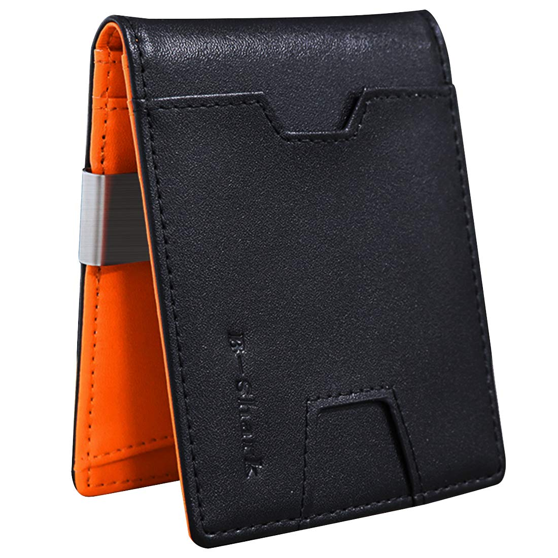 Amazon.com: Cartera fina con clip para dinero RFID Blocking ...