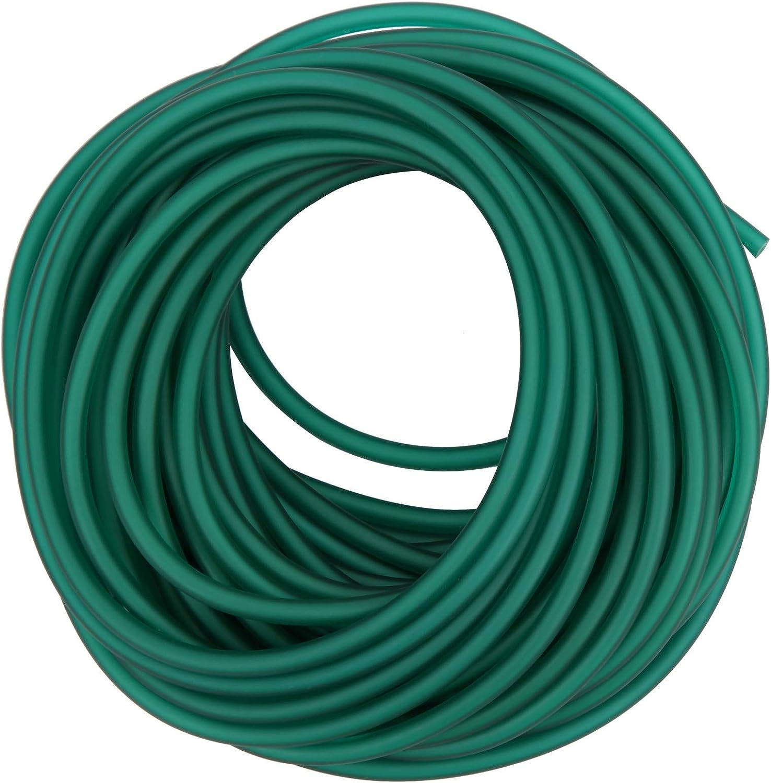 Dilwe Banda de látex Natural, Tubo de tirachinas de 10 m Fuerte elástico Catapulta Tiro con Arco Accesorios de Caza Verde Hielo