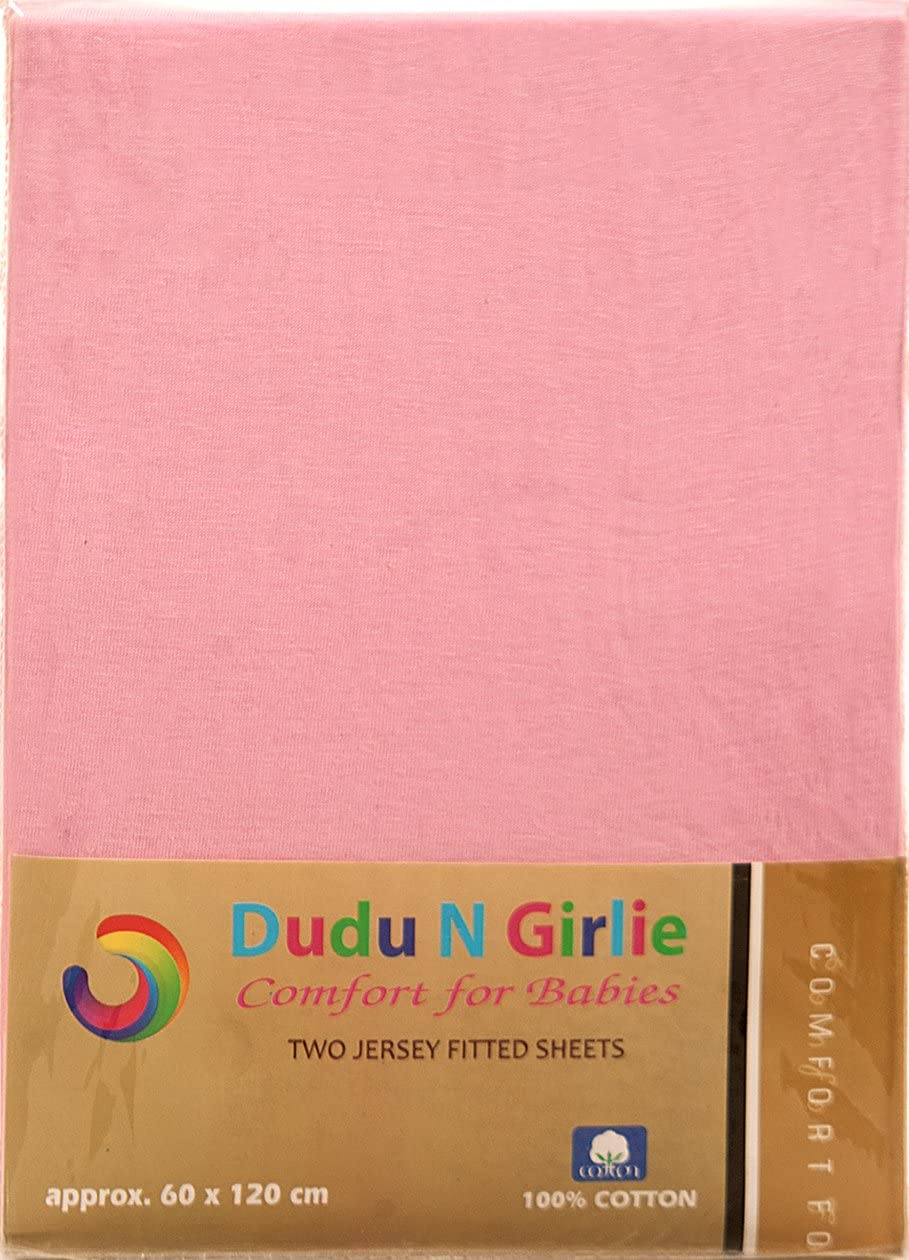 51 cm x 85 cm color crema//azul 2 piezas S/ábana bajera ajustable de algod/ón Dudu N Girlie Next2Me