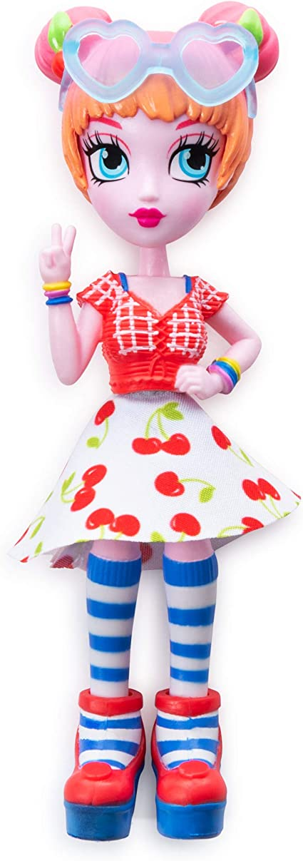 """Summer Vacation With Mix /& Match Fashions Off the Hook Surprise 4/"""" Alexis Doll"""