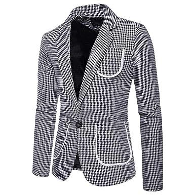 QXPORV Suit Blazer Jacket Traje de Solapa para Hombre con diseño ...