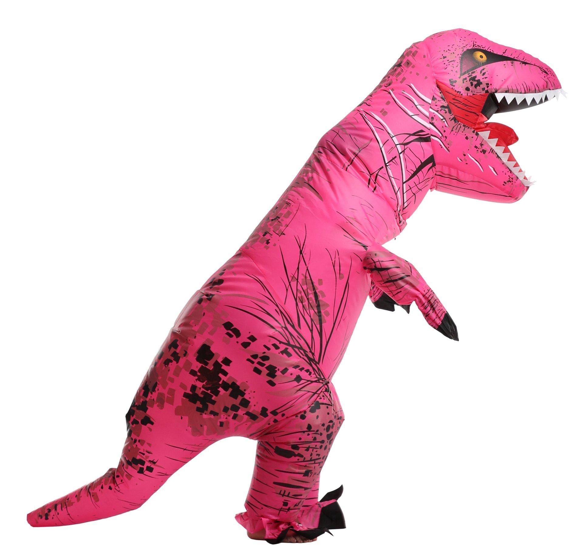 Unisex Kids Christmas Costume Jurassic T-Rex Inflatable Costume, child, Rose