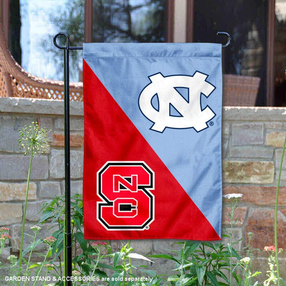 College Flags and Banners Co. North Carolina State Wolfpack House Divided Garden Flag