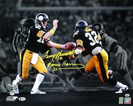 Terry Bradshaw Franco Harris Signed Pittsburgh Steelers 16x20 Photo Beckett  BAS aafdd5ec9