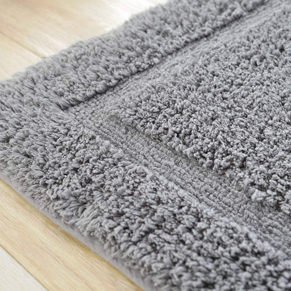 AXIANQIMat Soft Mat Floor Mat Towel Bathroom Non-Slip Bathroom Door Mat Cotton Absorbent Long Hair Thickening Mat Washable Brown 5080cm 6090cm (Color : Gray, Size : 5080cm) by AXIANQIMat (Image #4)