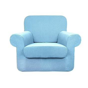 Amazon.com: Fundas de sofá YUUHUM a rayas, 2 piezas ...