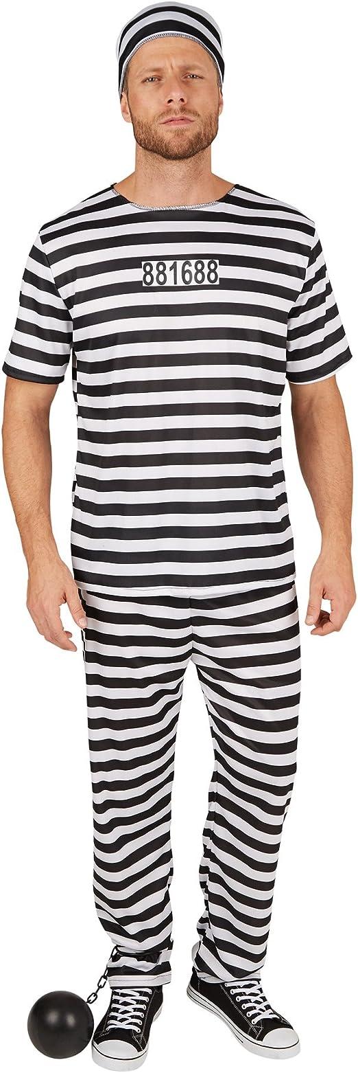 TecTake dressforfun Disfraz de Preso para Hombre | Diseño Moderno ...