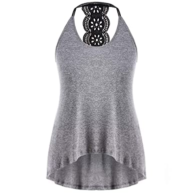 ed1d77b5f9f1 JFLYOU Women Tank Tops, Plus Size Soft Sexy Sleeveless Backless Casual  Print T-Shirt Blouse at Amazon Women's Clothing store:
