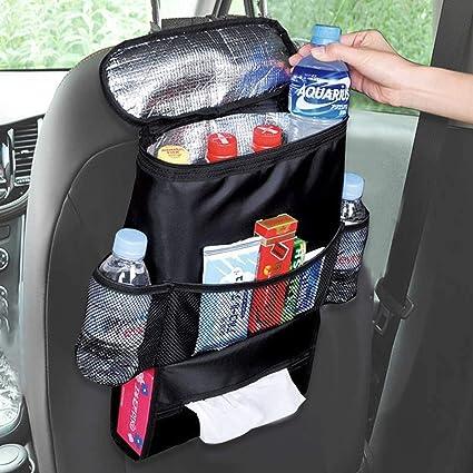 Amazon.es: Ruesious Universal Auto Coche Bolsa de Almacenamiento Organizador Preservación del Calor Accesorios Botella Smartphones Monedas