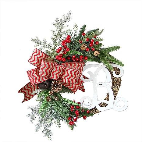 Small Christmas Wreaths.Amazon Com Christmas Wreath 15inch Merry Christmas Wreath