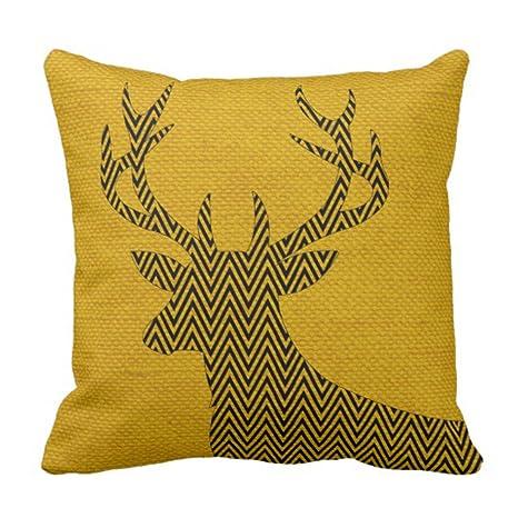 emvency manta funda de almohada Chevron yute de ciervo ...
