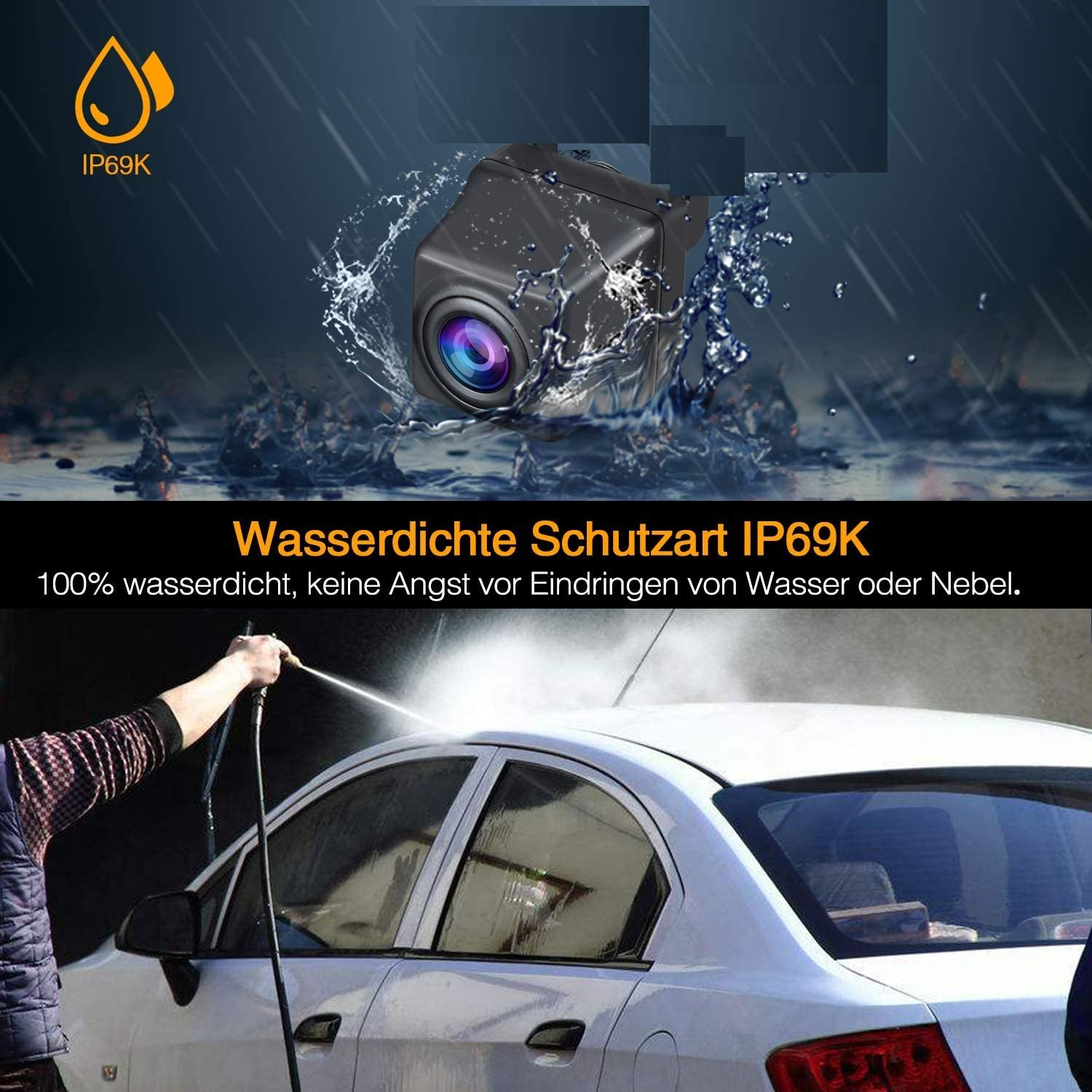 Rear Reversing Backup Camera Rearview Tailgate Handle Replacement Camera Night Vision Waterproof for Audi A3 A4 RS3 S3 2017 Facelift MQB 8V SKODA Octavia MK3 A7 5E 2016-2018