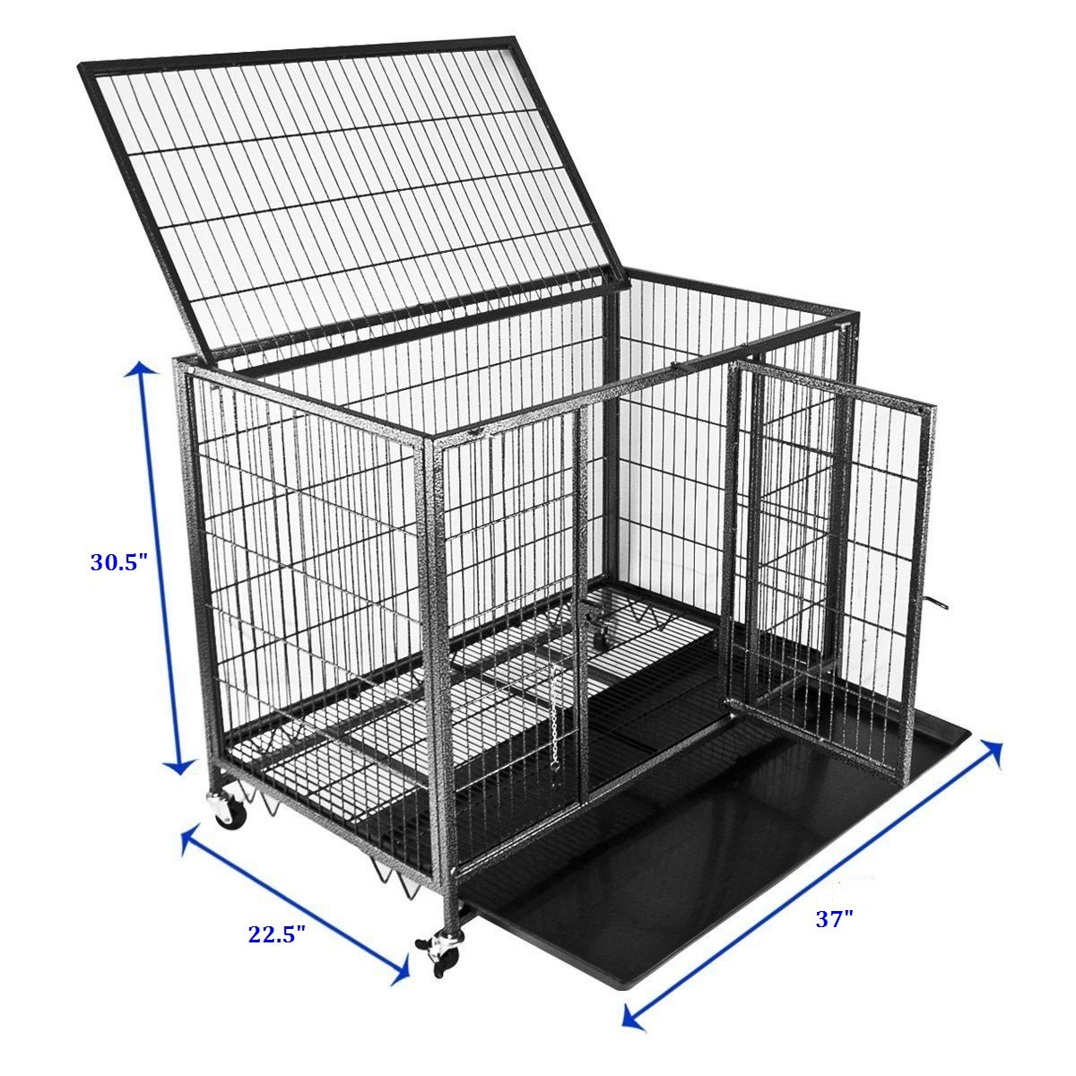 "Homey Pet 37"" Open Top Heavy Duty Dog Pet Cageow Mount AC"