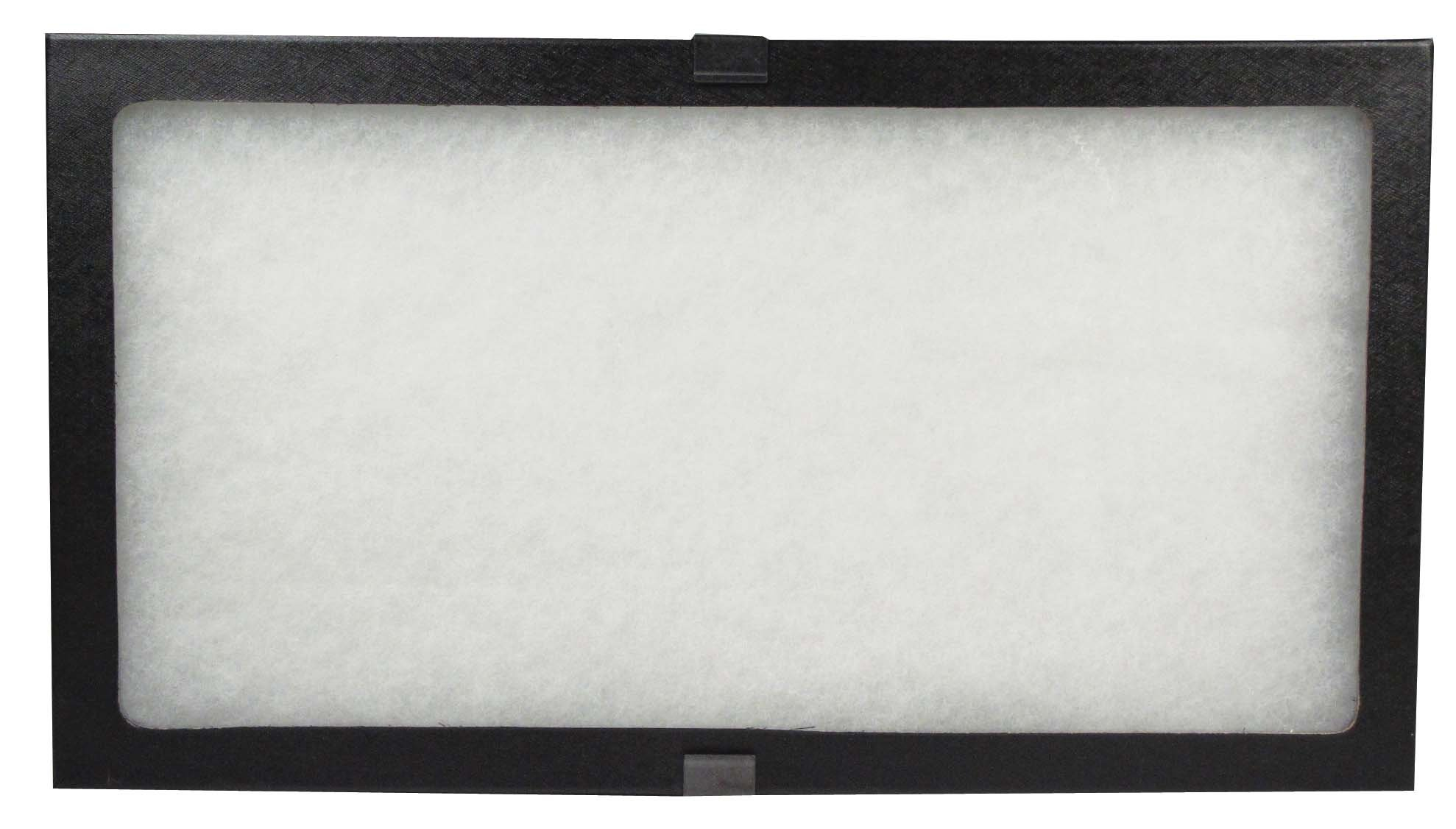 SE JT9214 Glass Top Display Box with Metal Clips, 14.5'' x 8'' x 0.75''