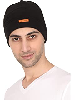 4bd66543db1 Buy FabSeasons Cotton Skull Cap (Black) Online at Low Prices in ...