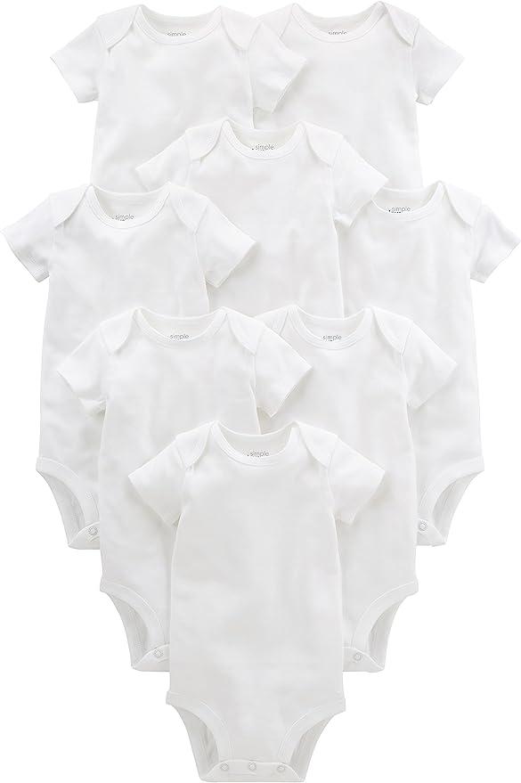 Simple Joys by Carters 4-Pack Soft Thermal Long Sleeve Bodysuits B/éb/é gar/çon Lot de 4