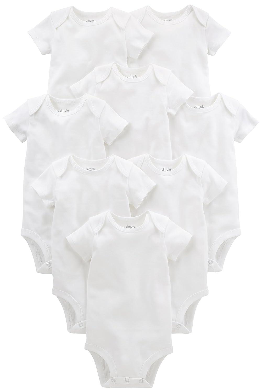 White Preemie Simple Joys by Carters Baby 8-Pack Short-Sleeve Bodysuit