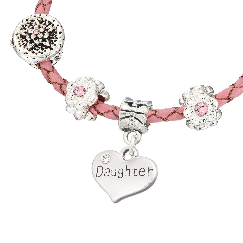 Jewellery Hut Bracelet /à Breloques pour Fille avec /étoiles Roses pour 13e Anniversaire avec bo/îte Cadeau
