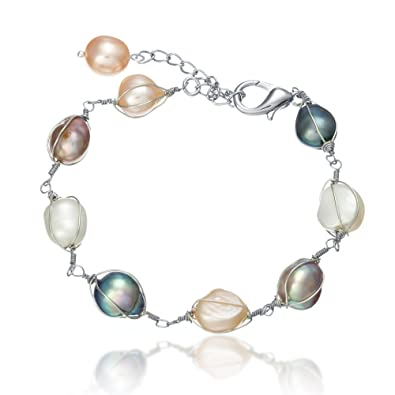 Lustrous - Mit Draht umwickelte Multicolor Perlen Armband: Lustrous ...