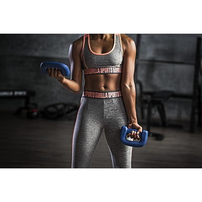 Pesas material mango 1-5 kg de gimnasia dumbbellobject pesas para correr Gorilla Sports 2 Kg (2x1): Amazon.es: Deportes y aire libre