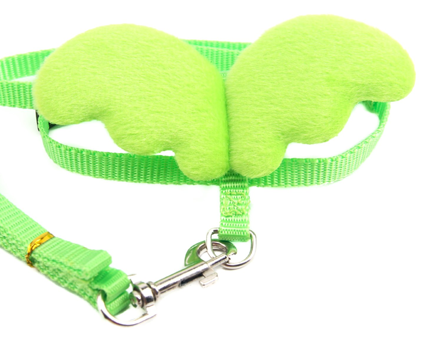 Small Pet Animal Harness and Leash Angel Wings for Baby Ferret Chinchilla Mouse Lizard Chipmunk Gerbil Degu Rat reptile gecko (Green)