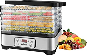 Food Dehydrators Machine, Dryer Dehydrators for Food and Jerky with Digital Time & Temperature Control, Fast Drying for Beef Jerky, Fruits, Vegetables, BPA Free, Overheat Protection, 400W