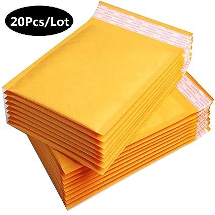 20 sobres acolchados de papel kraft autoadhesivos, paquete ...