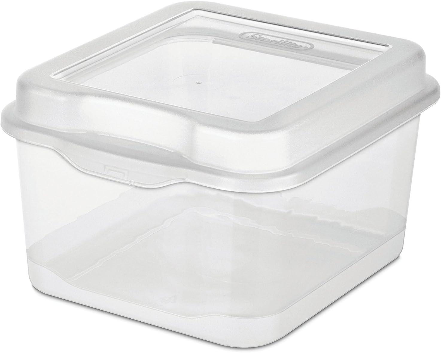 Sterilite Sales results No. 1 18038612 Small Clear Flip Box Storage Top Regular dealer