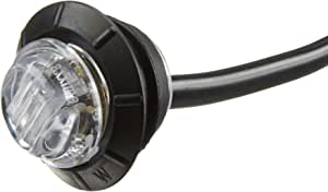 """Maxxima M09300YCL Amber 3/4"""" Round LED Clear Lens Combination Clearance Marker Light"""