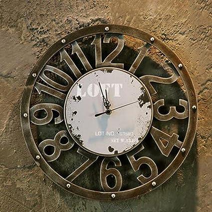 Reloj De Pared Vintage Industrial Viento Metal Reloj De Pared Reloj Digital Reloj De Imitación De