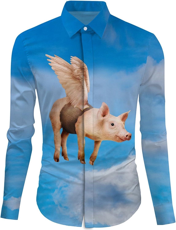 Rising ON mens shirts with long sleeves 3d printing camisa masculina french cuff shirts shirts wedding M-2XL