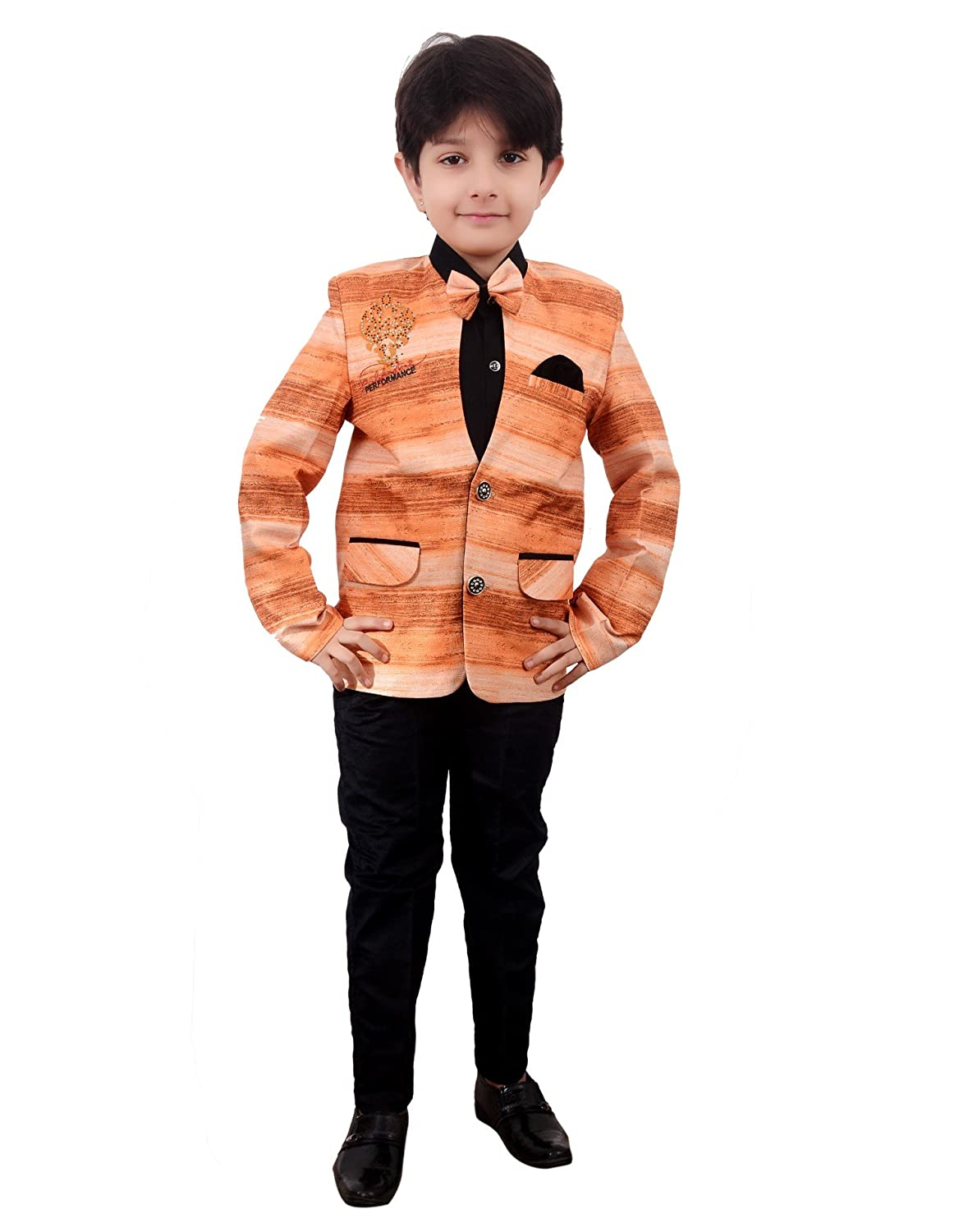 8707d92cf Arshia Fashions Boys Coat Suit with Shirt Pant and Bow - Party Wear ...
