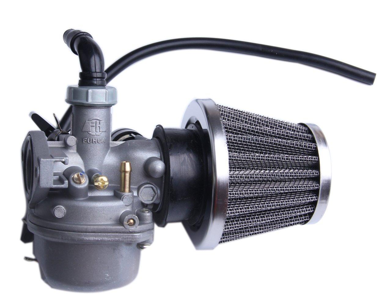 ATV Carburetor PZ19 with Fuel Filter and 35mm Air Filter for 50cc 70cc 90cc 110cc 125cc ATV Dirt Pit Bike Taotao Honda CRF Go-Kart Carb SUNL BH-MOTOR
