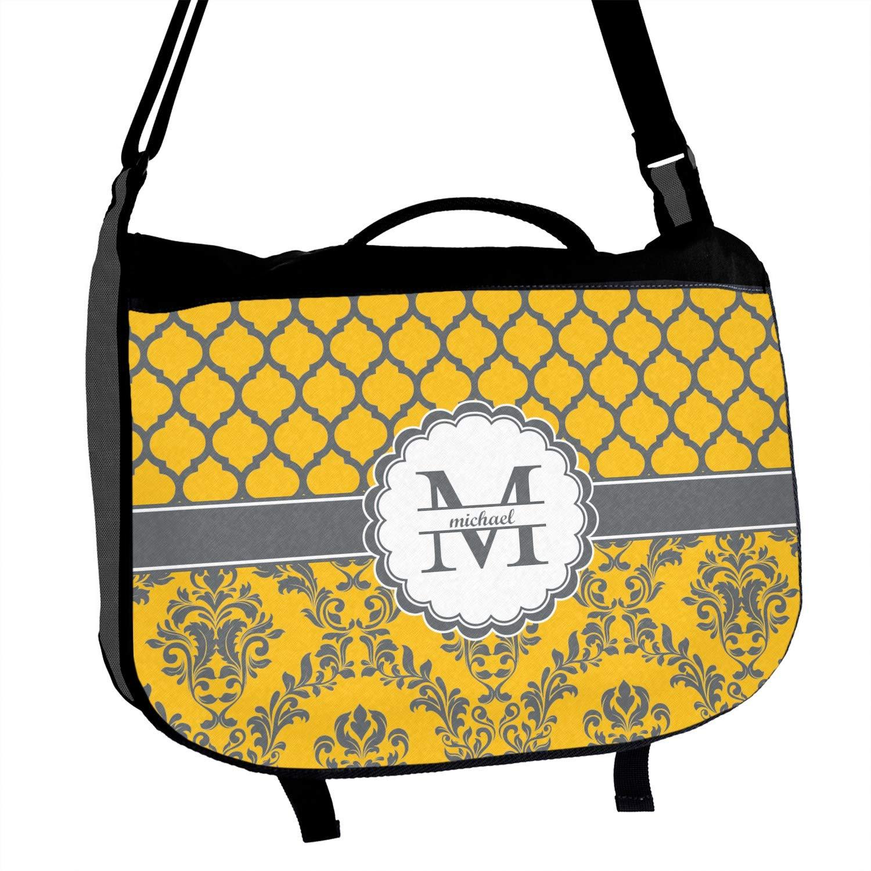 Damask /& Moroccan Messenger Bag Personalized