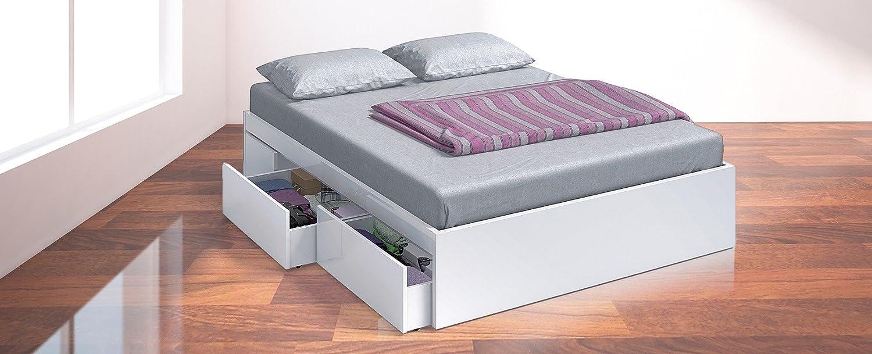 Habitdesign 006088BO - Cama con 4 cajones de 150x190 acabado Blanco ...