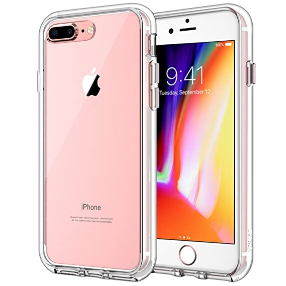 release date 4e4e0 7350d JETech Case for Apple iPhone 8 Plus and iPhone 7 Plus 5.5-Inch,  Shock-Absorption Bumper Cover, Anti-Scratch Clear Back (HD Clear)