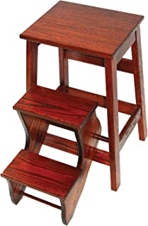 product image for Counter Height Oak Stool with Flip Out Steps - Amish Made in USA