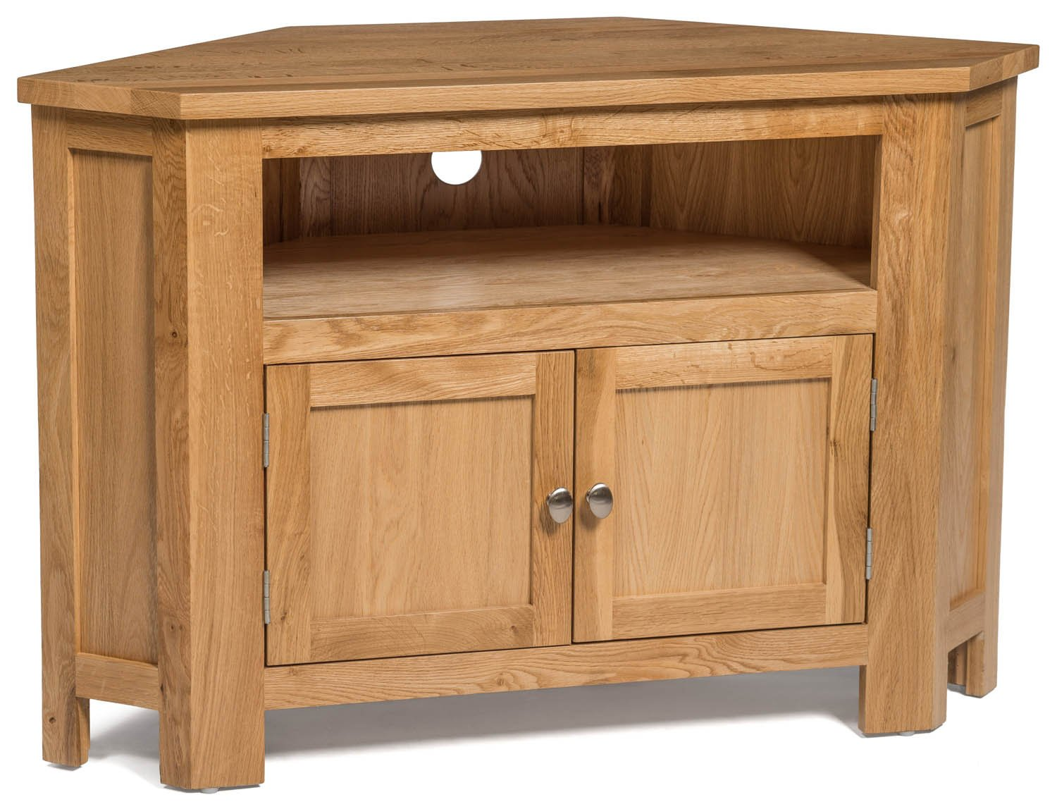 Charmant Waverly Oak 2 Door Corner TV Stand In Light Oak Finish | Media Cabinet |  Entertainment Table | Solid Wooden Doored Unit: Amazon.co.uk: Kitchen U0026 Home