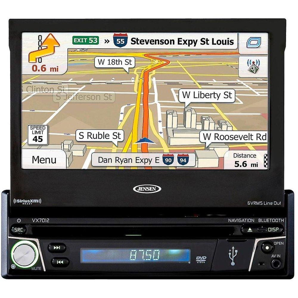Jensen VX7012, 7' DVD Navigation Receiver with Bluetooth [並行輸入品] B01HLZ4Z9S