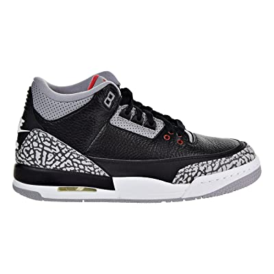 3333213a1b5 Air Jordan 3 Retro OG Big Kids  Basketball Shoes Black Fire Red Cement Grey  854261-001