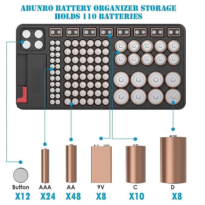 Amazon.com: Caja organizadora de batería con comprobador ...