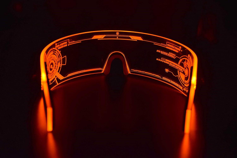 Cyberpunk LED Tron Visor Glasses Cybergoth Cyberpunk Glasses Goggles HTC02 Perfect For Cosplay and Festivals