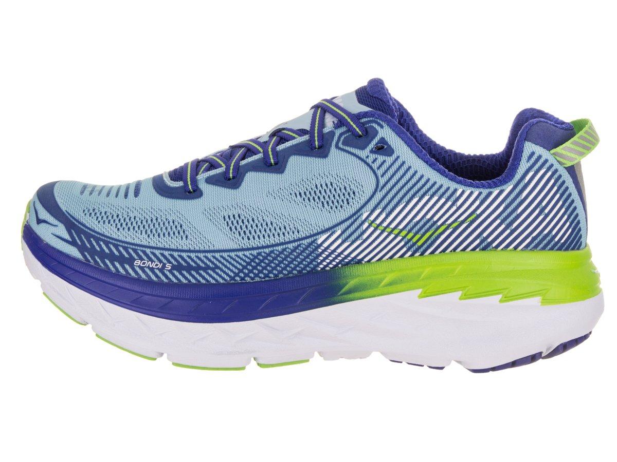 HOKA ONE ONE Women's Bondi 5 Running Shoe B072LNKXNN 9 B(M) US|Sky Blue / Surf the Web