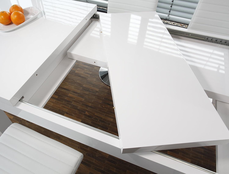 SalesFever Esstisch 180x90 Cm Ausziehbar Weiß Hochglänzend Luke: Amazon.de:  Küche U0026 Haushalt