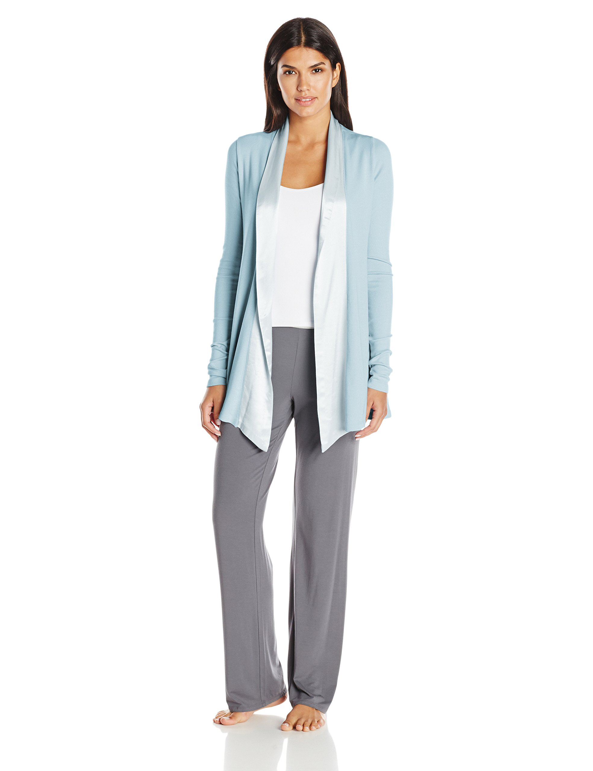PJ Harlow Women's Shelby Lounge Jacket, Morning Blue, Small