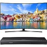 "Samsung 65"" Class KU7500 7-Series Curved 4K Ultra HD Smart LED TV (UN65KU7500FXZA) with Samsung 3D Wi-Fi 4K Ultra HD Blu-ray Disc Player"