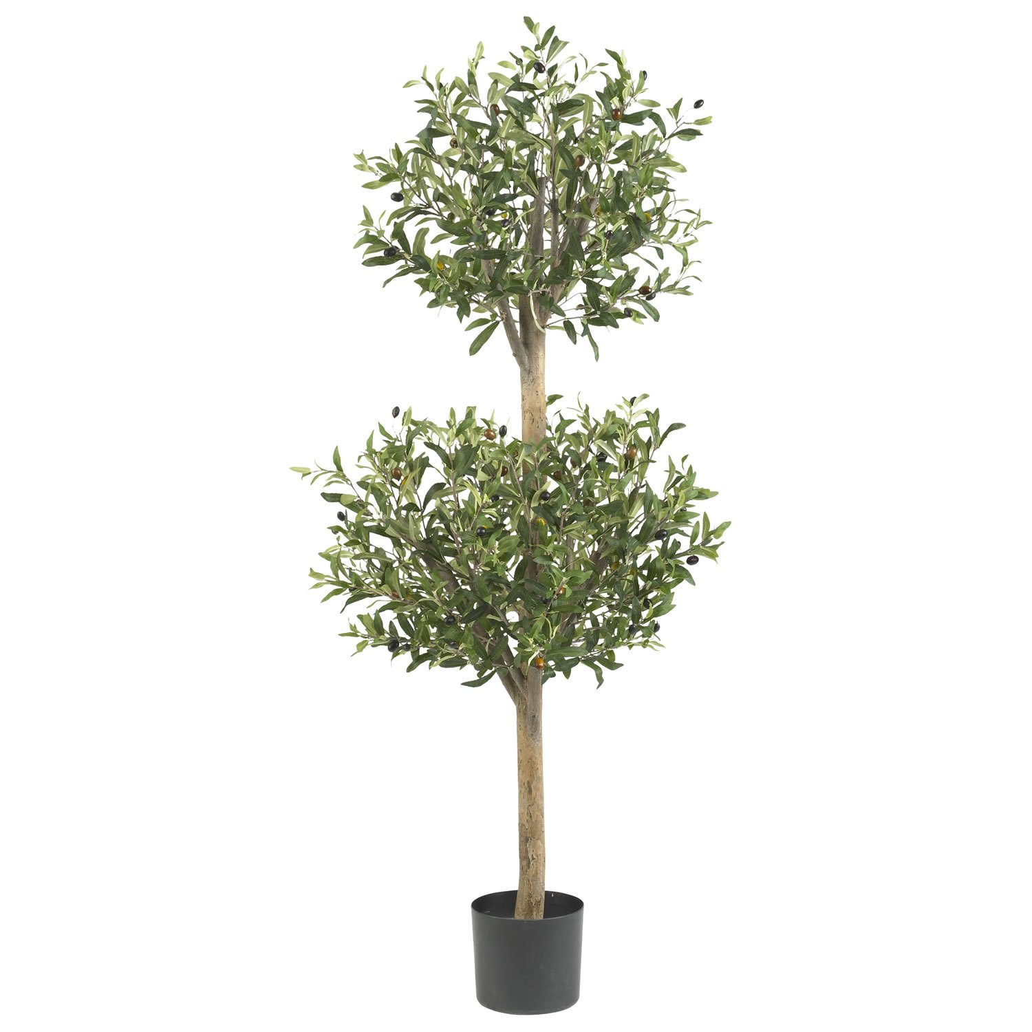 Well-known Amazon.com - Nearly Natural 5309 Olive Double Topiary Silk Tree  WV67
